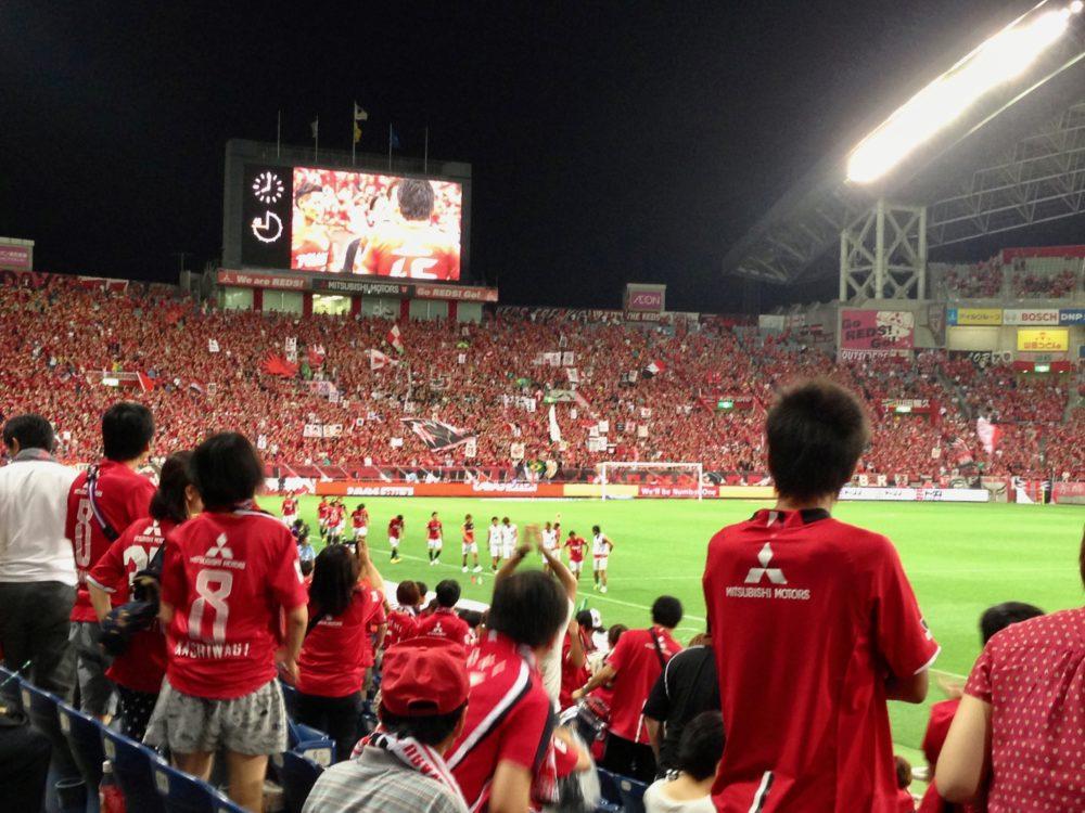 試合後 埼玉スタジアム 選手あいさつ