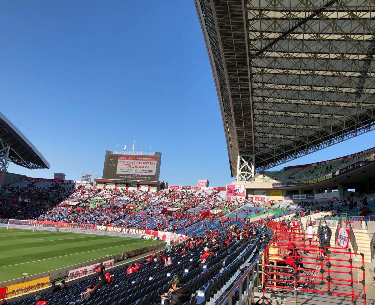 埼玉スタジアム バックロアーと屋根の位置関係